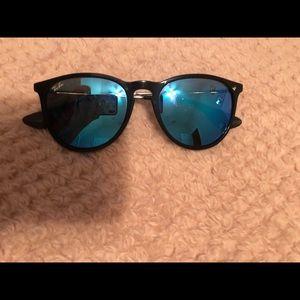 Erika rayban sunglasses with blue lenses